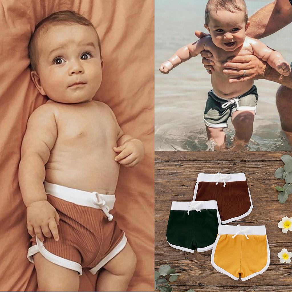 Baby Boys Girls Harem Sweatpants Elastic Shorts Kids Summer Cute Cotton PP Pants