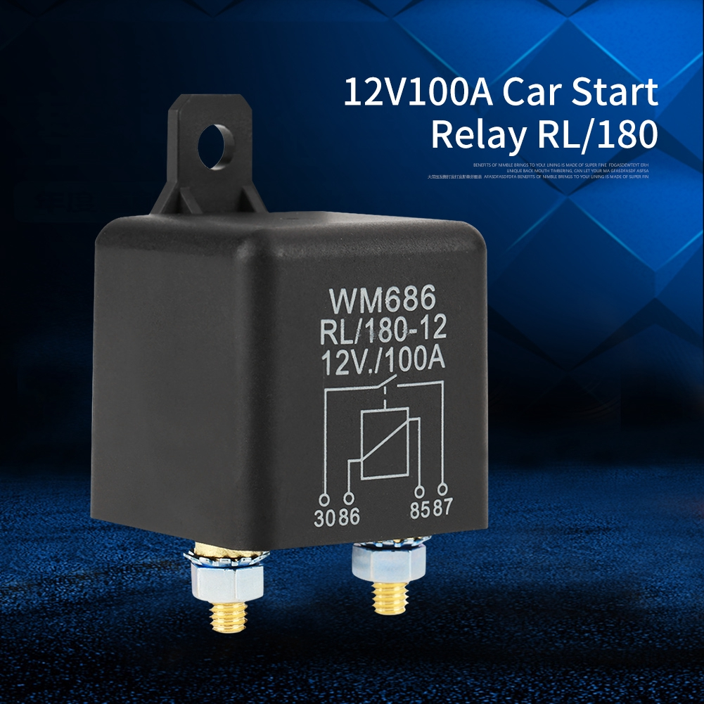 Car Starter Relay 12V 100A 4 Pin Normal Open Heavy Duty Car Starter Relay for Control Battery ON//Off 2.95 /× 1.69 /× 1.69 in