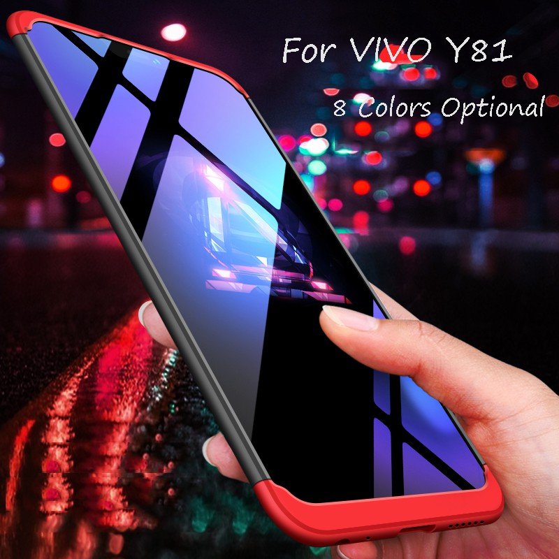 size 40 0de75 63469 For VIVO Y81/Y81s 3 in 1 Combo 360° Full Protection Slim PC Phone Case Cover