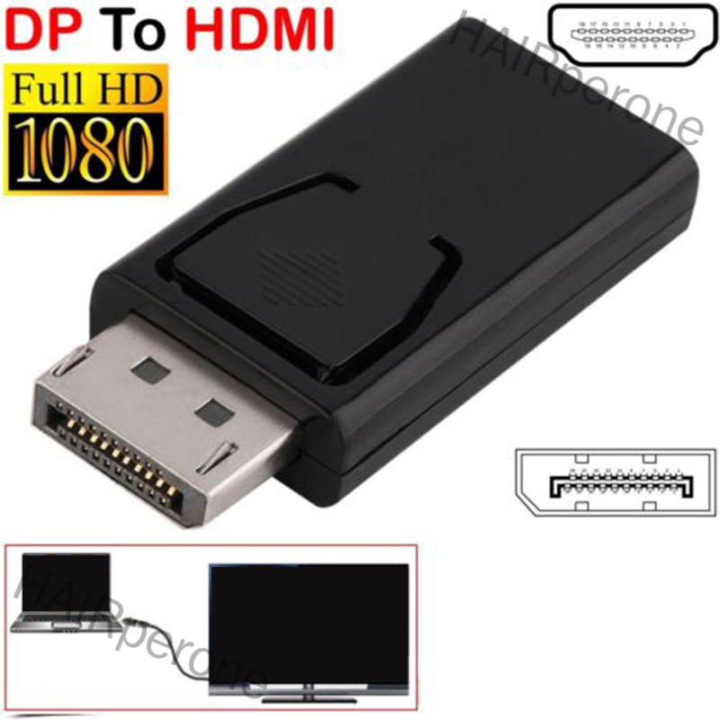 HAIRperone DP Male To HDMI Female Flat Adapter Connector Converter for HDTV PC