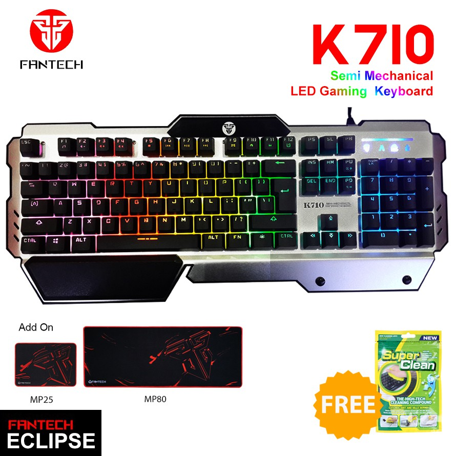 Fantech K710 Eclipse Silver ... Source · Rainbow Color LED Backlight Gaming Keyboard CL-FV-Q305 [FREE Gaming Mouse]