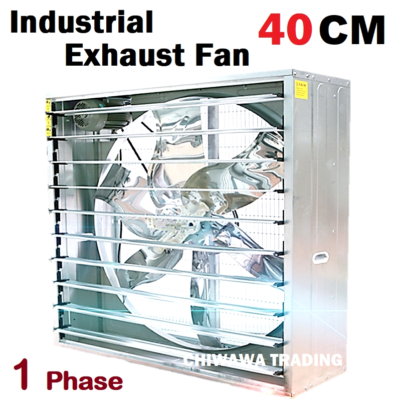 "SINGLE Phase Power 40CM Exhaust Fan (16"") 16 Inch Wall Mount Industrial Heavy Duty Ventilator Ventilation Air Extractor"