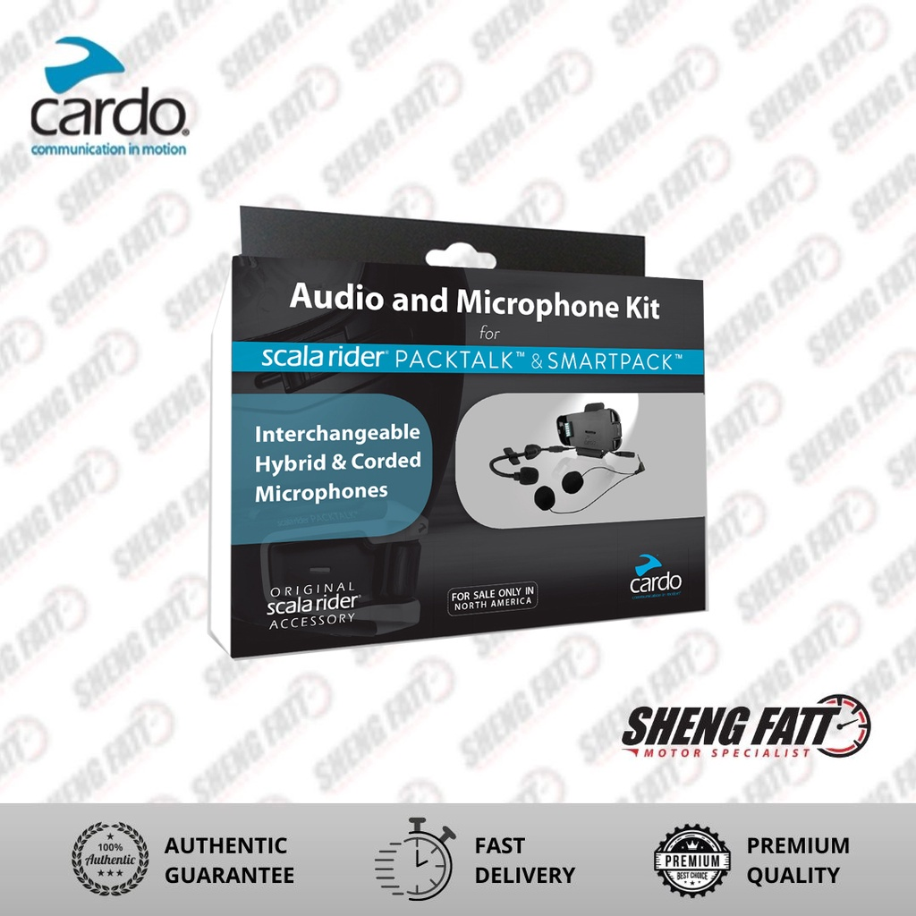 CARDO Audio And Microphone Kit For Packtalk & Smartpack