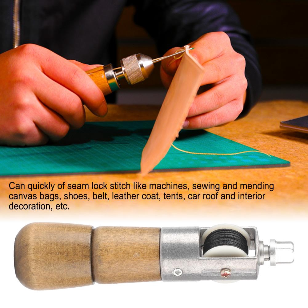 Handwork Leather Tool Lock Stitch Sewing Awl Leather Craft Tool Carving Wax  Line Hand Needle