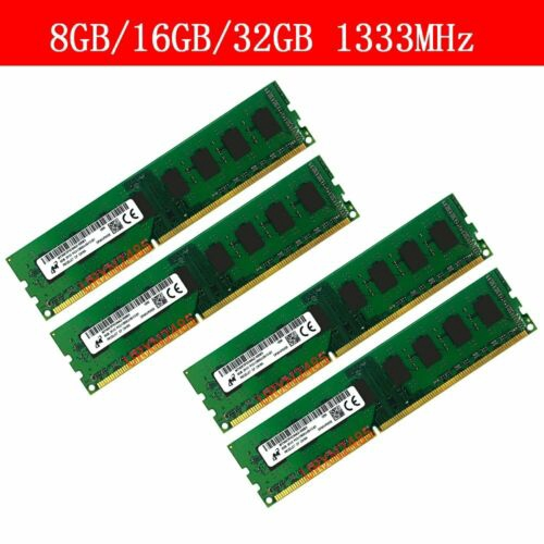 32GB 16GB 8GB 4GB DDR3 PC3-10600U 1333Mhz 1.5V CL9 Desktop Memory For Micron Lot