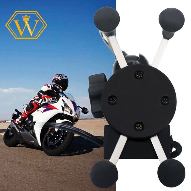 ProductImage. ProductImage. ☀Ready Stock☀X-Grip RAM Motorcycle Car Mount Cellphone Holder USB Charger