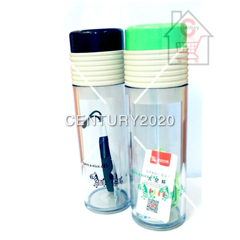 RIMEI Sports Water Bottle Double Mouth Leak Proof With Strap And Filter Outdoor Travel Bottle 400ml