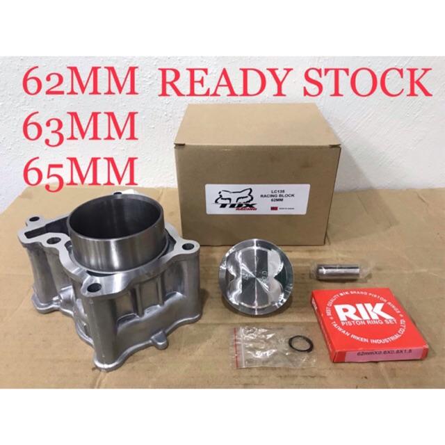LC135 Y15ZR FZ150 RACING BLOCK 62MM 63MM 65MM *Quality Terbaik* 62 63 65  TDX Racing