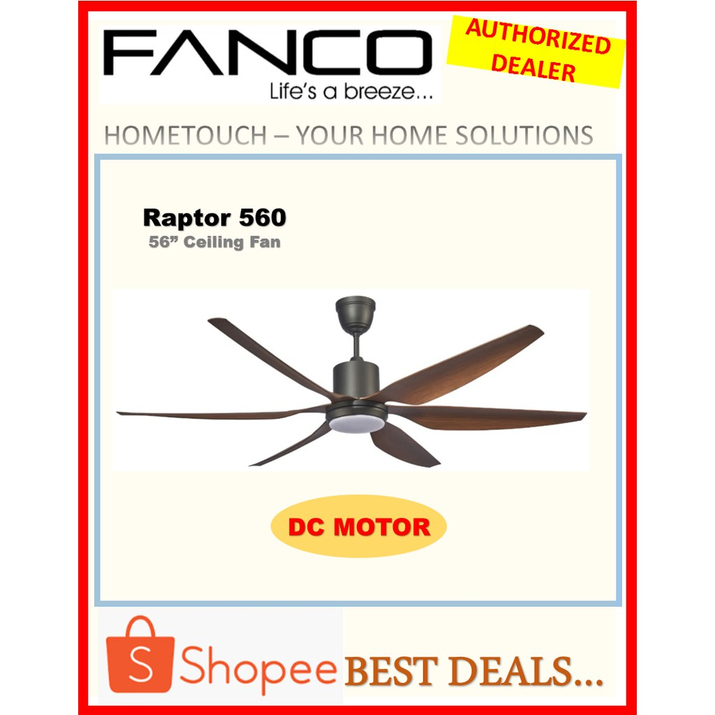 Dc Motor Ceiling Fan With 3 In 1 Led