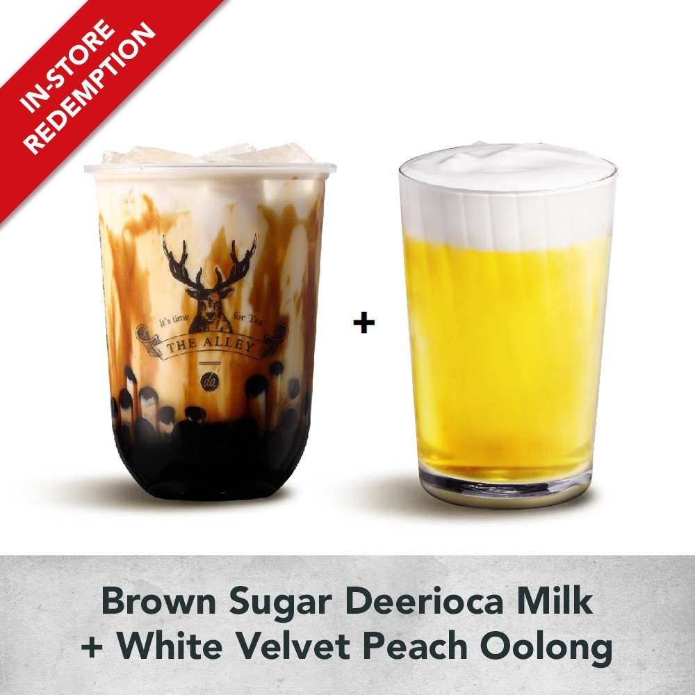 Brown Sugar Deerioca Milk + White Velvet Peach Oolong [Bundle B]