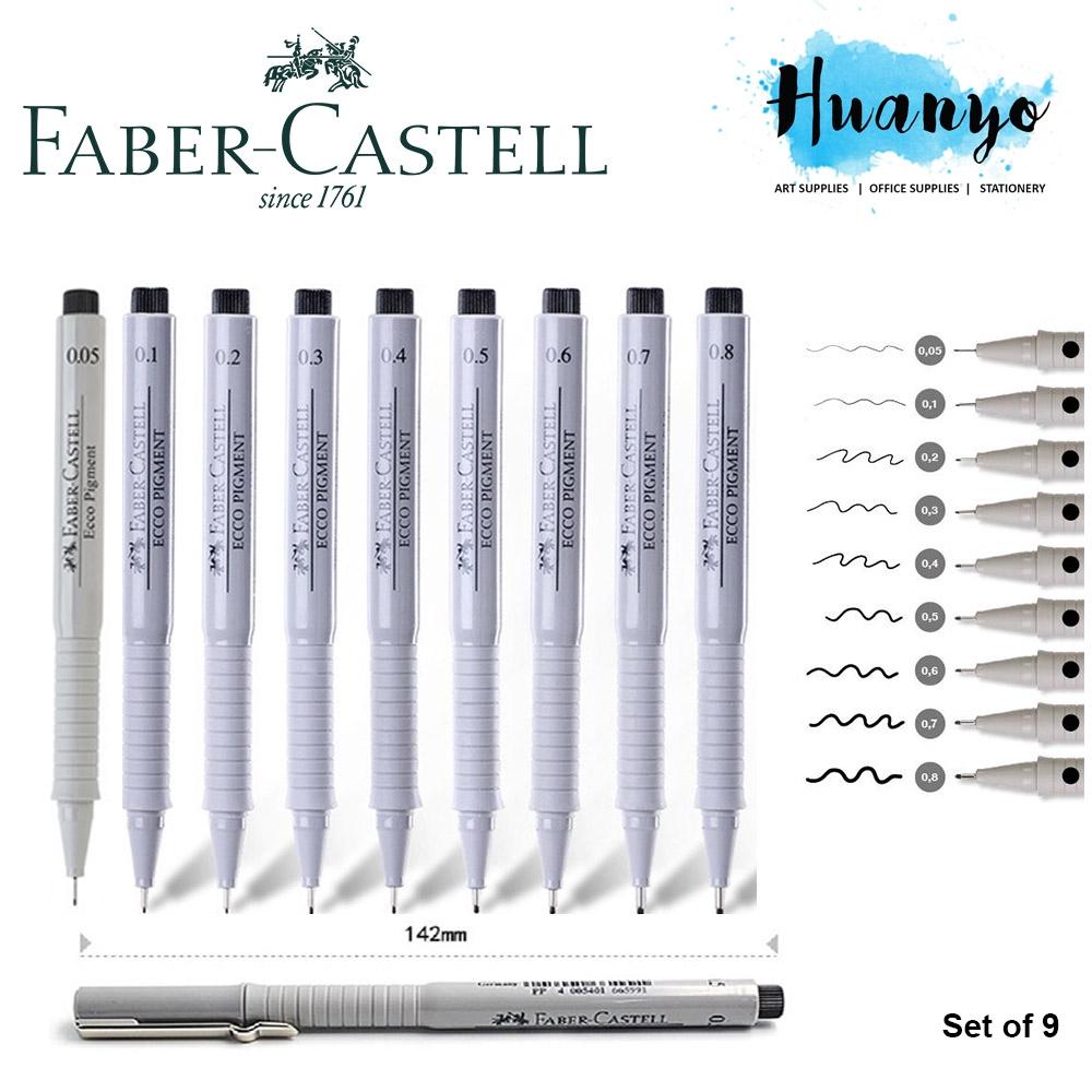 0.7mm Ecco Pigment Sketching Pen Faber Castell Black