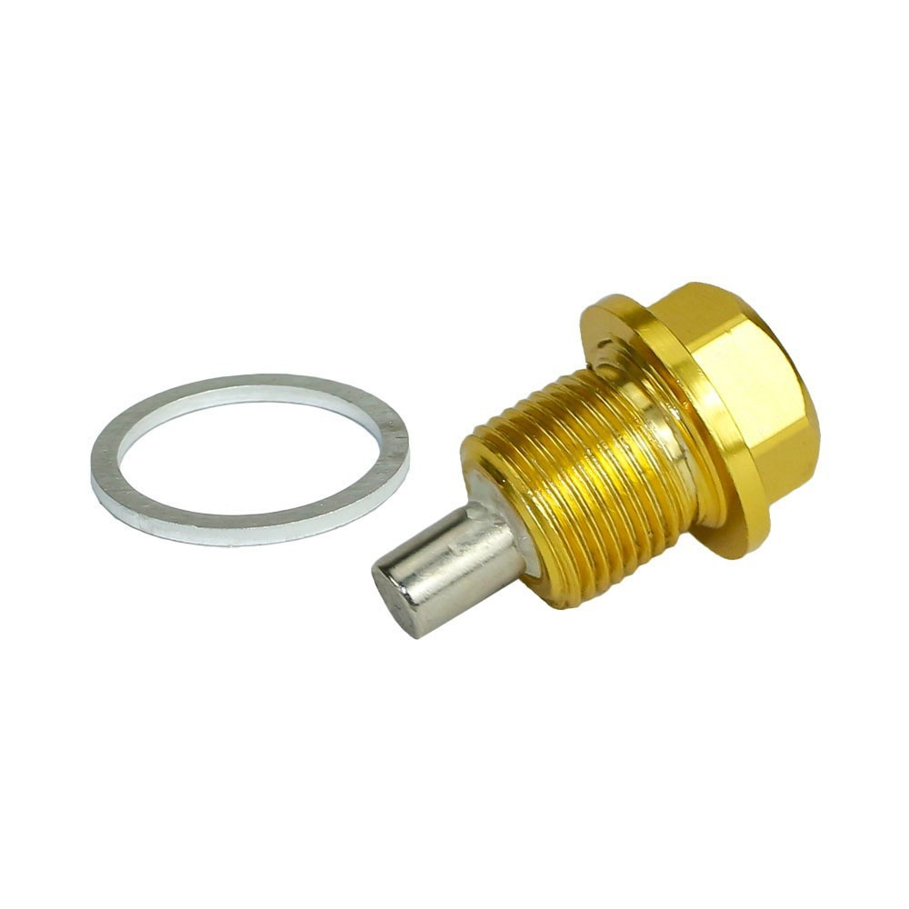 M16 × 1.5MM Gold Magnetic Oil Sump Drain Plug Nut For Most BMW Toyota Scion