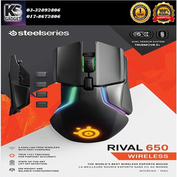 STEELSERIES RIVAL 650 DUAL SENSOR(RGB) MOUSE