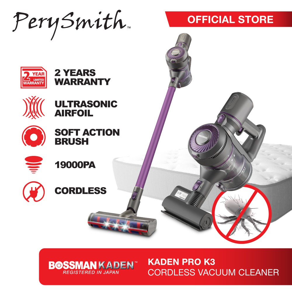 PerySmith Cordless Vacuum Cleaner X Bossman Kaden PRO K3   Shopee Malaysia