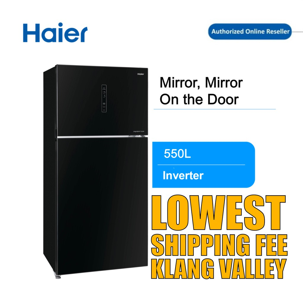 Haier HRF-680IGB 600L 2 Door Glass Series Refrigerator with Energy Saving with DC inverter technology