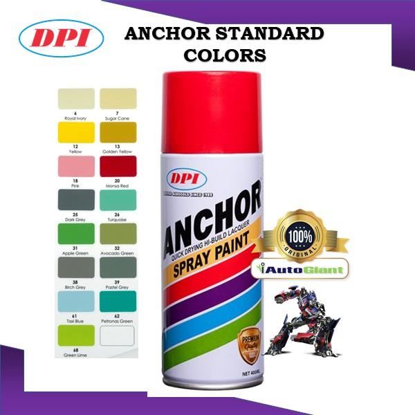 ANCHOR SPRAY PAINT STANDARD COLOR 400ML (V3) - (100% ORIGINAL)