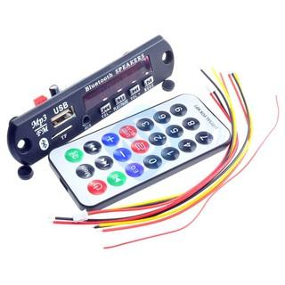 7-12V Car Bluetooth MP3 Decoder Board Decoding Player Module Support FM  Radio US