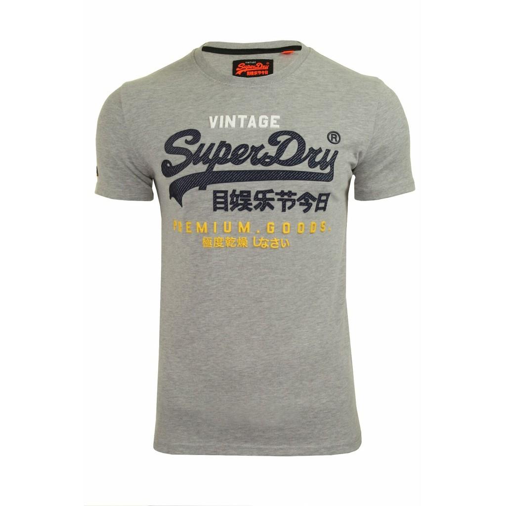 Superdry Mens T-Shirt 'Premium Goods Infill Tee' - Short Sleeved