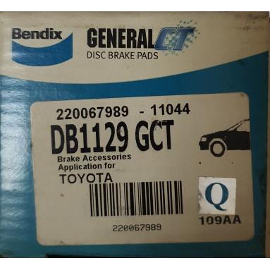 Bendix Toyota Corona ST171 2.0 Front Disc Brake Pad General CT (DB1129GCT)