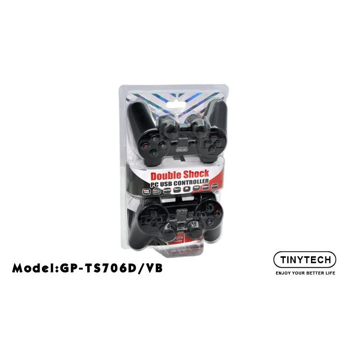 Tinytech Double Shock PC USB Controller Joystick gamepad 2 player twin joystick GP-TS706D/VB GP-XON006