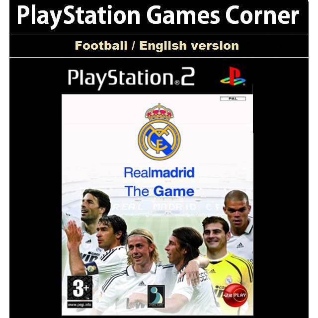 PS2 Game Real Madrid the Game , English version, Football Game