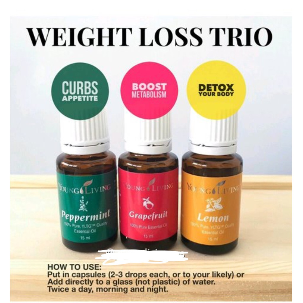 Young Living Weight Loss Essential Oil Set Shopee Malaysia