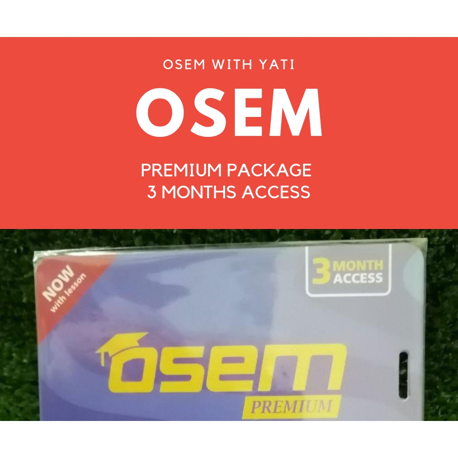🔥 HOT 🔥 OSEM STUDY ONLINE PACKAGE ACCESS 3 MONTH