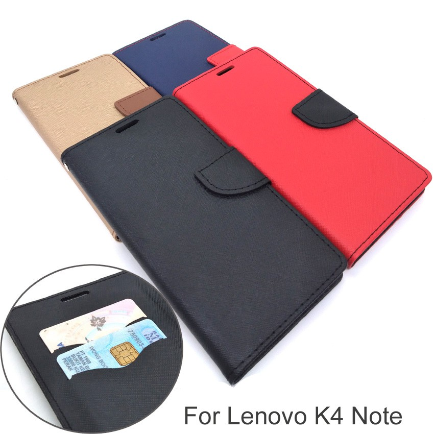 Lenovo K4 Note/A7010/Vibe X3 Lite Wallet Leather Flip Cover Case (W2-4-1)