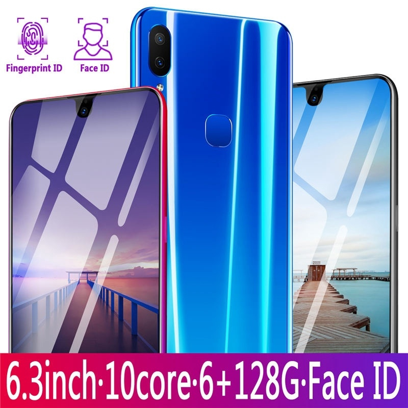 X23 Smartphone Full 6 3 Inch Ultra-thin Smartphone Face/Fingerprint Unlock  Android Octa Core Dual SIM Cards Bluetooth
