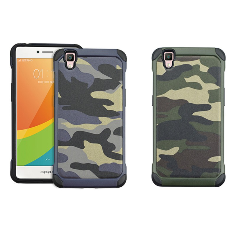 buy popular 67cdb bca9a OPPO R7s Camo Case, Army Camo Shock Resistant Double Protective Cover Case