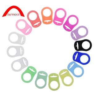 5eb70c927ca62 50 pcs Pince a sucette bretelle attache clip plastique 10 couleurs ...