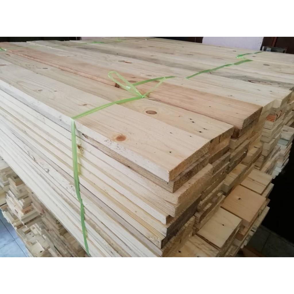 Kayu Pallet Pine Siap Ketam Ready Stock