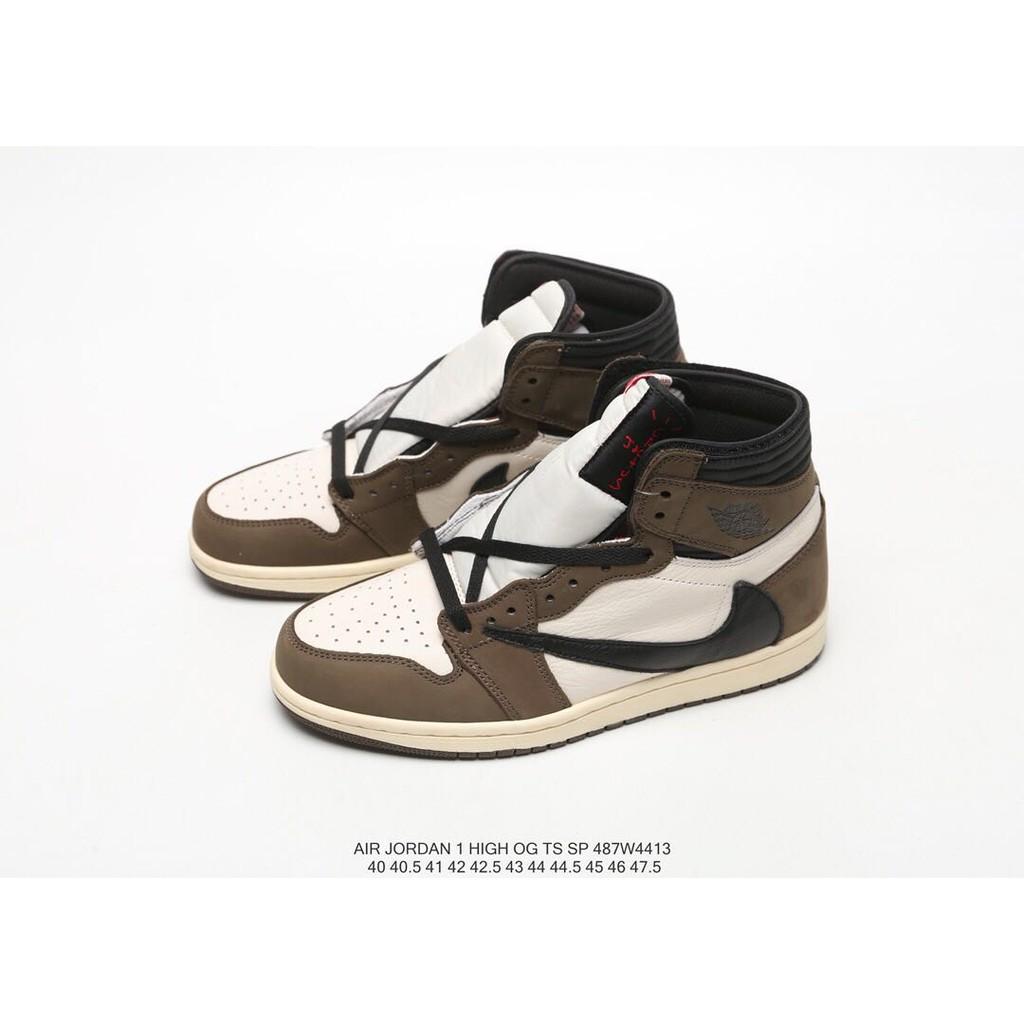 amazon great deals 2017 so cheap Travis Scott x Nike Air Jordan 1 Retro High AJ1 Gold Toe Men and Women  Basketball Shoes