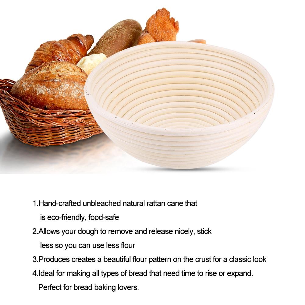 Handmade Unbleached Natural Cane Banneton Proofing Basket Dough Bread Baking M