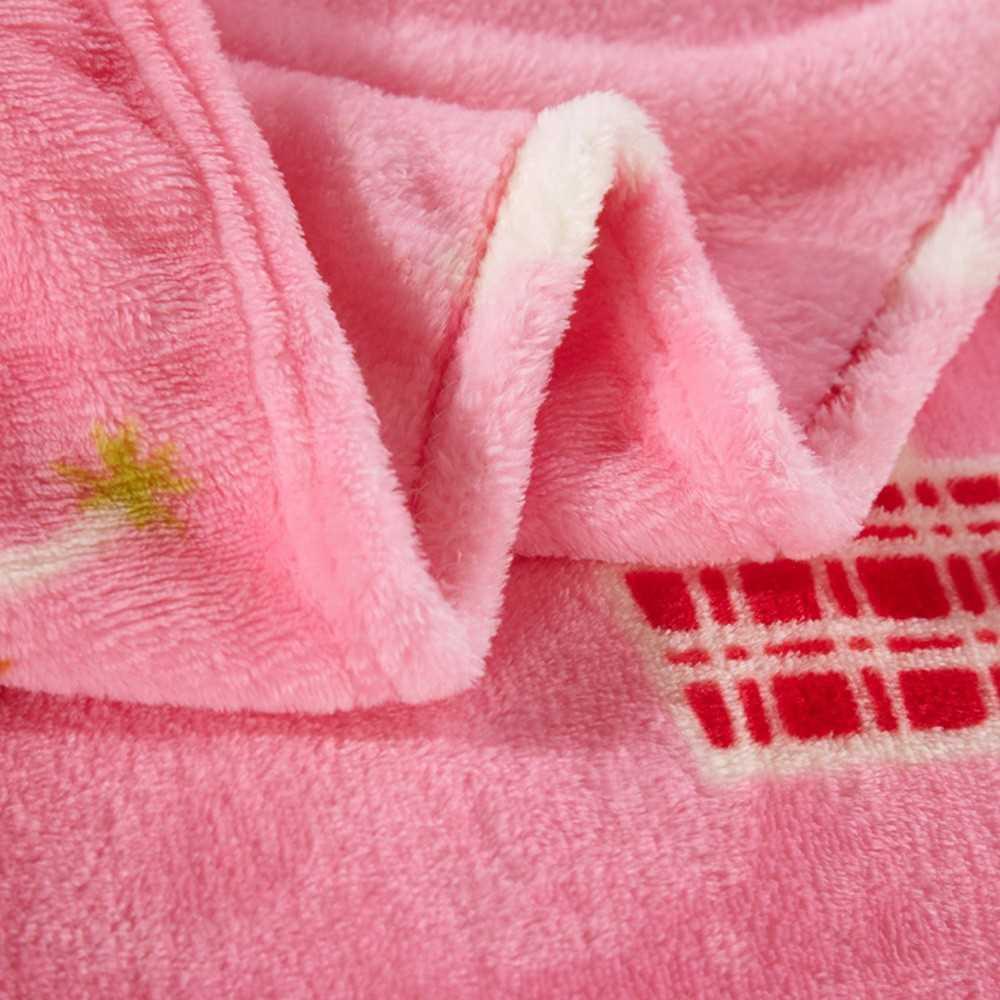 Flannel Polar-fleece Blanket of High Quality Polyester Fiber Soft and Warm 200g/㎡