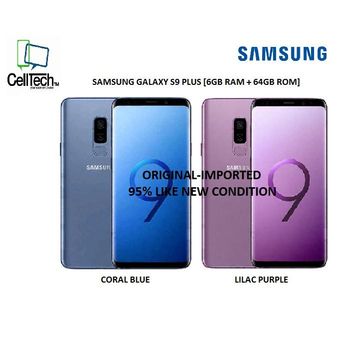 [ORIGINAL] SAMSUNG Galaxy S9 Plus (G965) 64GB (Imported) LIKE NEW
