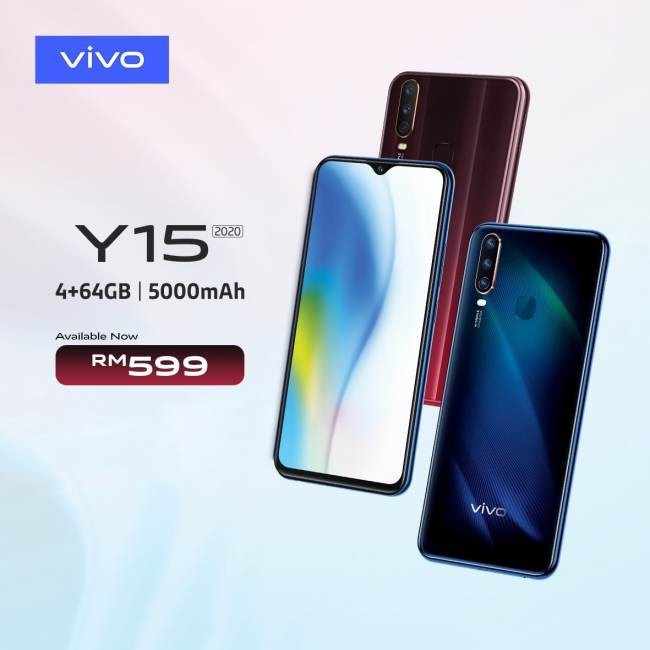 VIVO Y15( 4GB RAM + 64GB Storage) 100% NEW & ORIGINAL