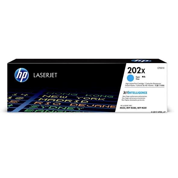 HP 202X (CF501X) Cyan High Yield Toner Cartridge (JetIntelligence)