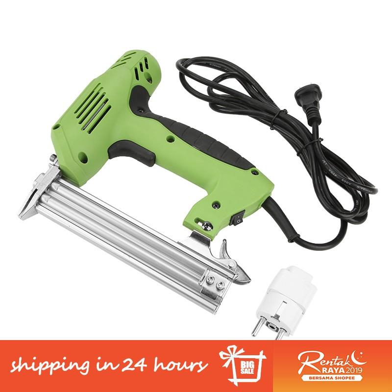 【Ready】Electric Nailer Nail Gun Hand Operated Nailing Tool for Furniture  Woodworking