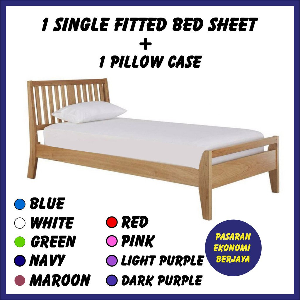 CADAR BUJANG /CADAR BUJANG ASRAMA /CADAR ASRAMA PLAIN /SINGLE BED SHEET /BEDSHEET /BUJANG BED SHEET /CADAR ASRAMA /