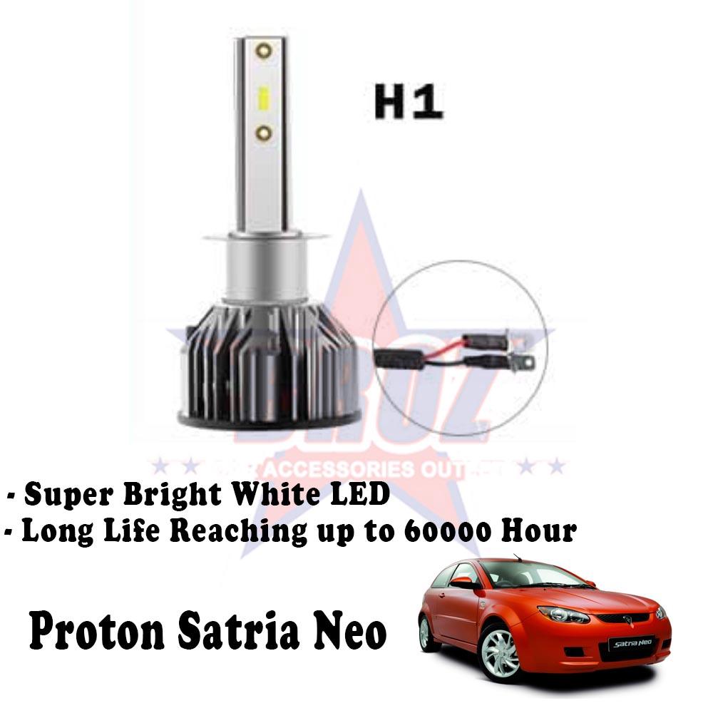 Proton Satria Neo Head Lamp H1 C6 Led Light Car Headlight Shopee Malaysia