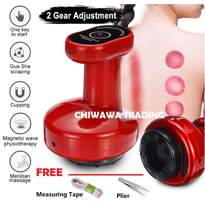 USB Electric Cupping Scraping Guasha Vacuum Suction Acupoint Massager Negative Pressure Meridian Dredge Physiotherapy