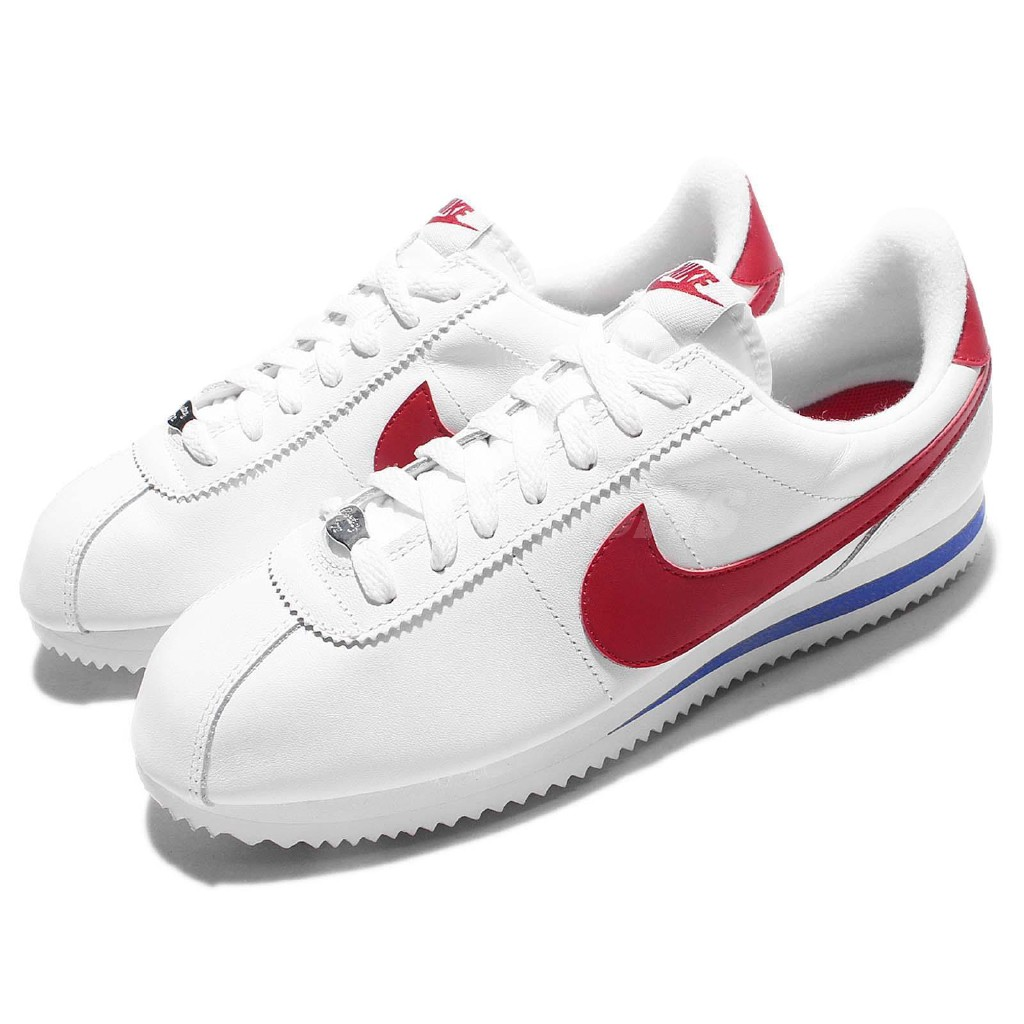 super popular 32d64 67497 Nike Cortez Basic Leather OG Forrest Gump White Red Mens