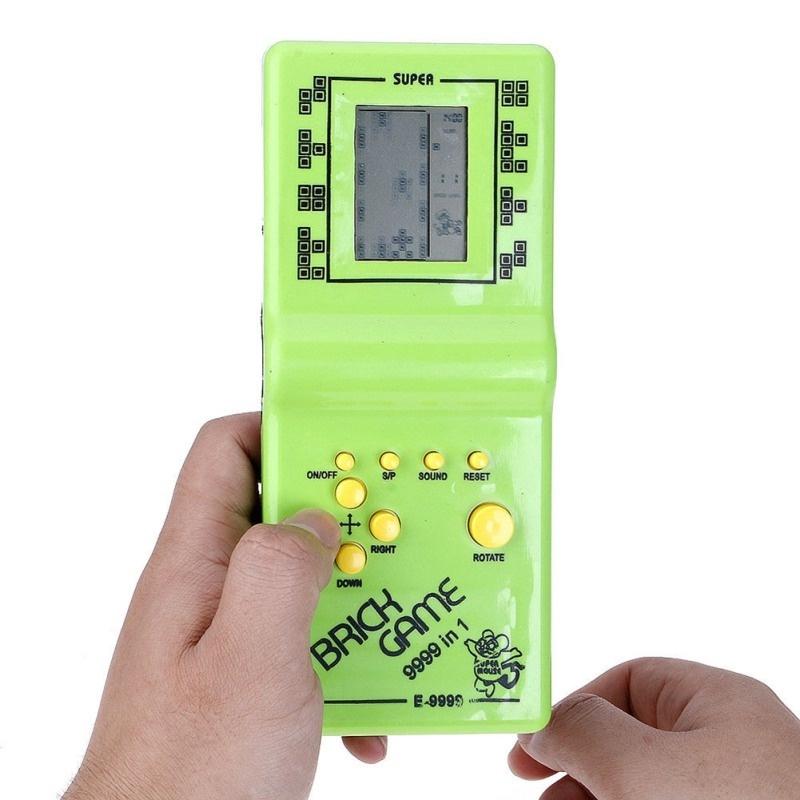 Classic Handheld Game Machine Tetris Brick Game Kids Game Machine Random  Color