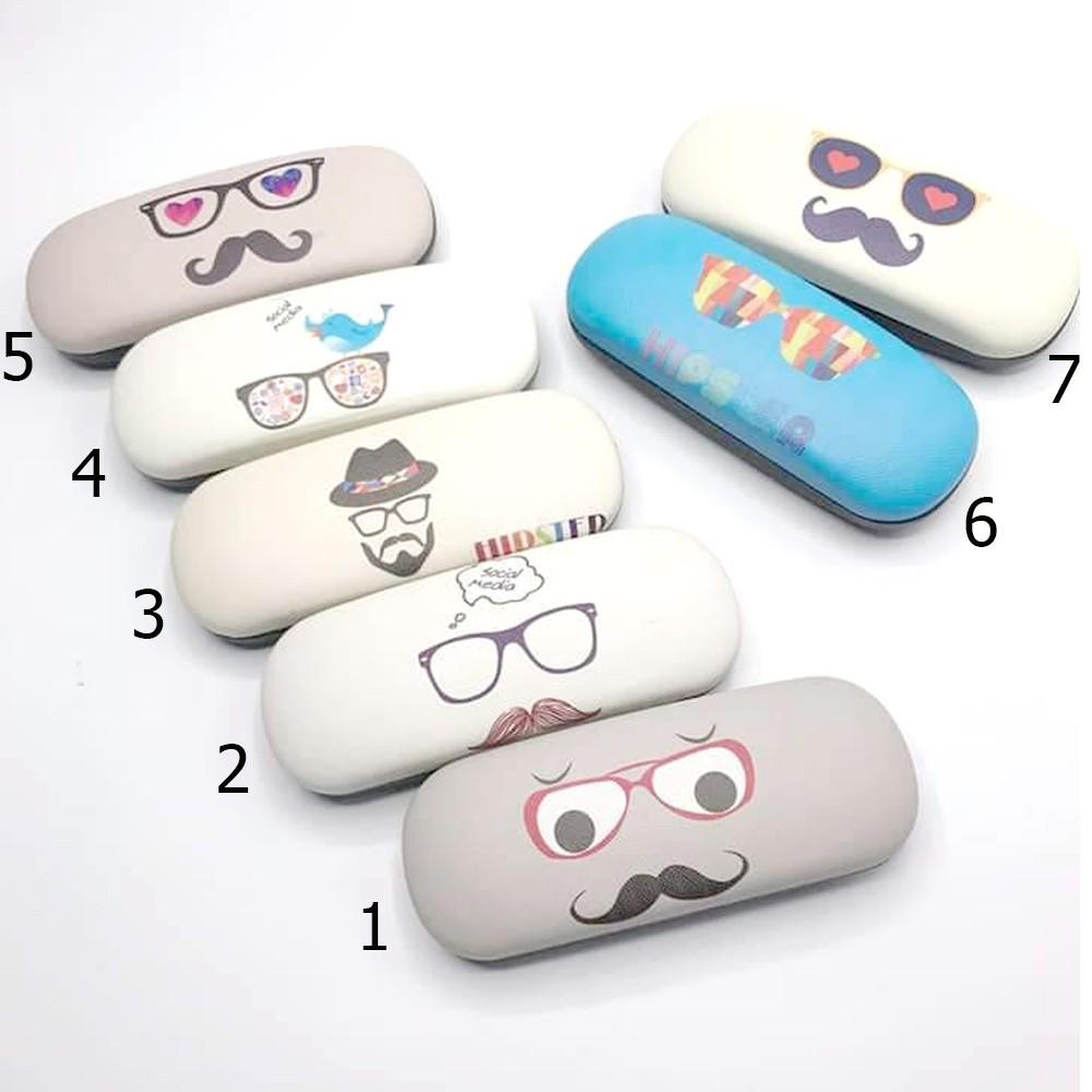 กล่องแว่นตา ลายการ์ตูน น่ารัก ๆ แถมฟรีผ้าเช็ดเลนส์