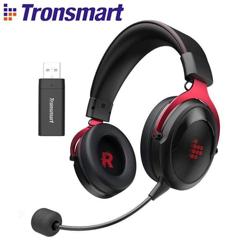 Tronsmart Shadow Gaming Headset 2.4G Wireless Headphones with Comfortable Headband - Black Red