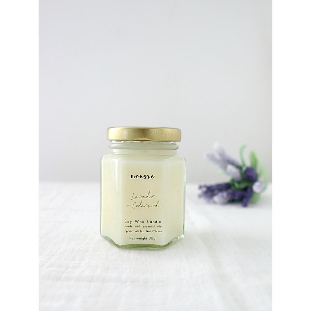 100% Natural Soy Wax Candle Scented With Pure Essential Oil