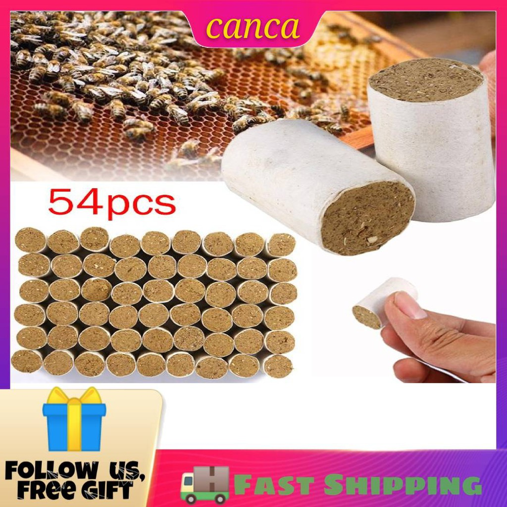 💖canca💖 54x Beekeeping Tool Bee Hive Smoker Solid Fuel Chinese Medicinal  Herb Smoke Fuels