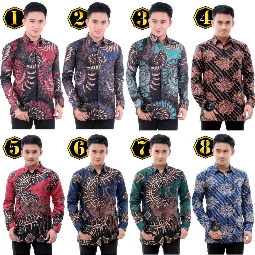 Men's Clothes Clothing Top FORMAL BATIK Shirt Men Casual M L XL XXL B