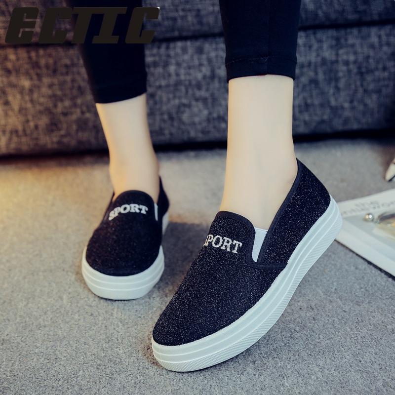 Fashion women loafers canvas shoes female fashion design casual women's  shoes   Shopee Malaysia